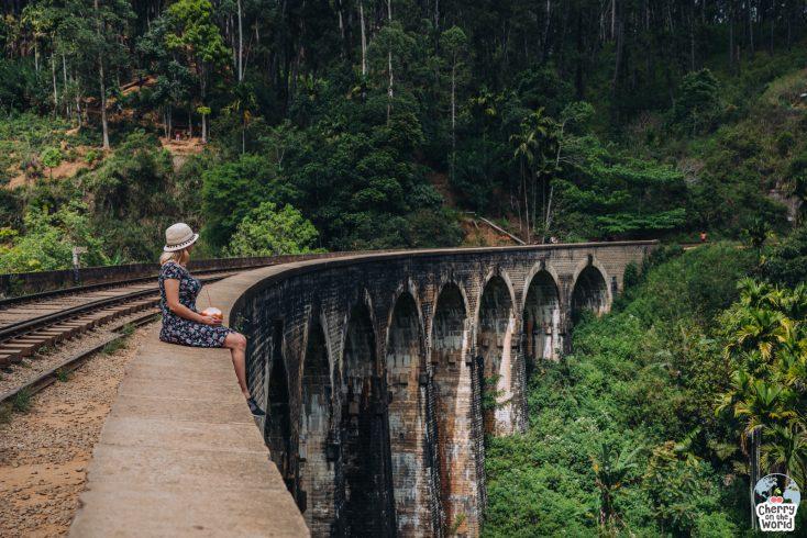 Podul Nine Arch Bridge Ella, savurand o nuca de cocos