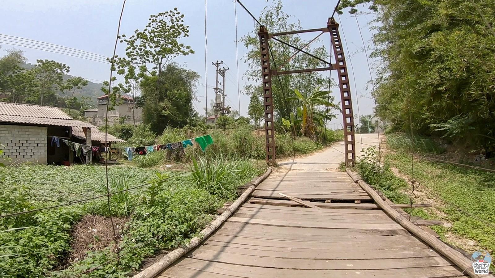 wooden bridge ha giang vietnam